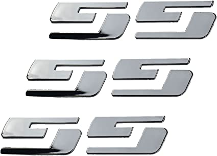2pcs High Quality SS Emblems Badges Alloy Stickers for GM Chevrolet Silverado 3