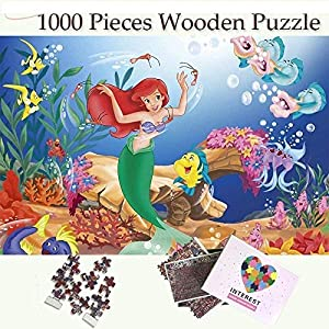 WJPT 1000 Pieces of Wooden Puzzle-The Little Mermaid Puzzles 1000 Pieces Toys Wooden Puzzle Jigsaw 1000 Ppieces Wooden…