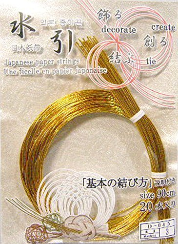 Japanese Paper Strings(MIZUHIKI) Gold 20pcs