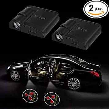 SUV Car Door 5thGen LED Projector Welcome Logo Ghost Shadow Light fit Mitsubishi