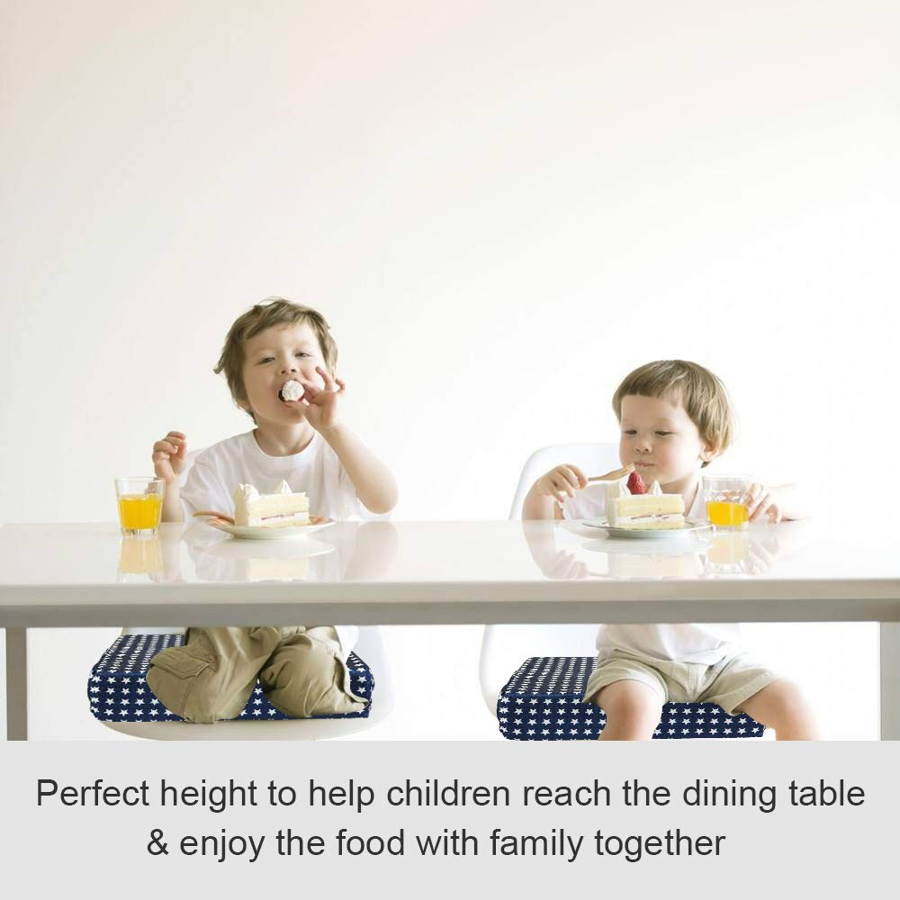 Portable Washable High Chair Dining Cushion with Double Straps for Toddler Kids Infant Travel Booster Seat Dining Perfect for Feeding /& Playtime