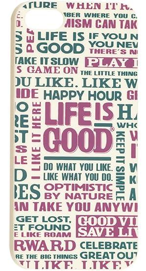 Amazon com: Life is Good Positive Sayings iPhone 5 Case