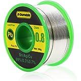E·Durable ハンダワイヤー 無鉛 鉛フリー リール巻はんだ はんだ 糸半田 フラックス 銀入りハンダ 低融点 溶接ワイヤー ロジンコア 溶接用品 すず-sn-99% 銀-ag-0.3% 銅-cu-0.7% SnAgCu系 合金 100g 線径(0.8mm)