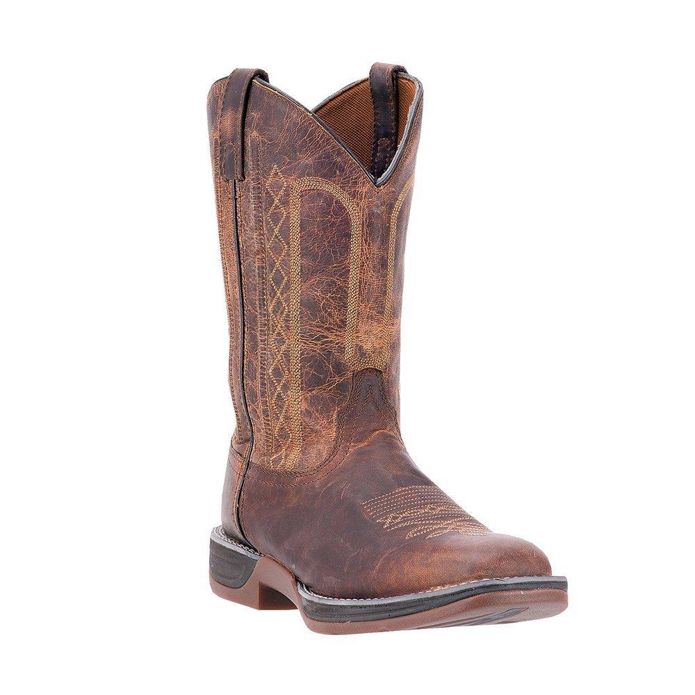 Laredo Mens Bennett Square Toe Tan Boots B01D3D2MEW 9 XW US|Tan