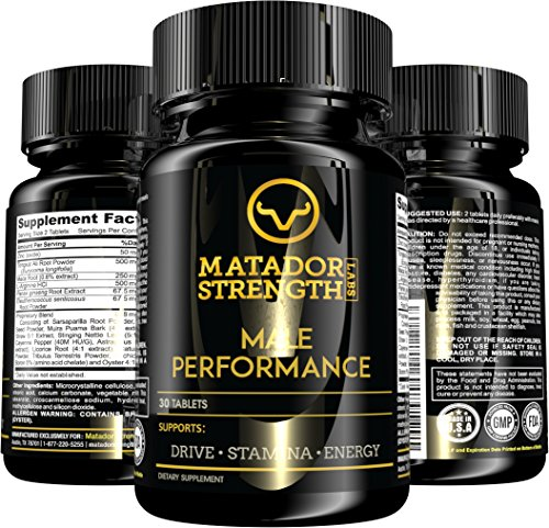Male Performance Pills - Potent Vitamins Testosterone Booster for Muscle Building Growth, Energy, Stamina with Tribulus, Zinc, Tongkat Ali, L-Arginine, Maca, Oyster Extract - 30 (Tribulus Muscle Building)