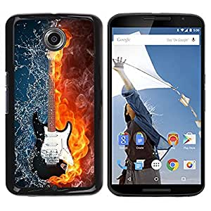 LOVE FOR NEXUS 6 / X / Moto X Pro Water and fire guitar Personalized Design Custom DIY Case Cover