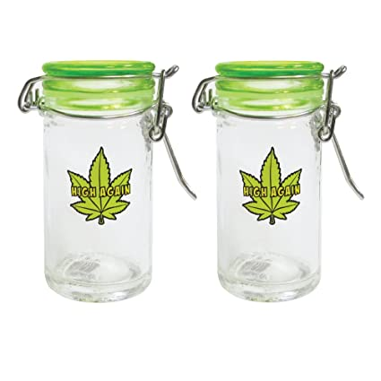 Amazoncom Mini Mason Jar 25 Ounce Marijuana Pot Leaf Container