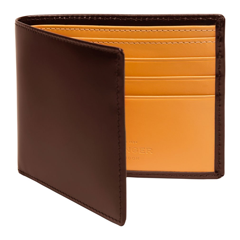 Ettinger Men's Bridle Hide Billfold Wallet with 6 Credit Card Slips - Nut Brown/Tan