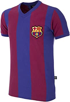 copa FC Barcelona 1955-56 Camiseta Retro de fútbol con Cuello en V, Hombre: Amazon.es: Deportes y aire libre