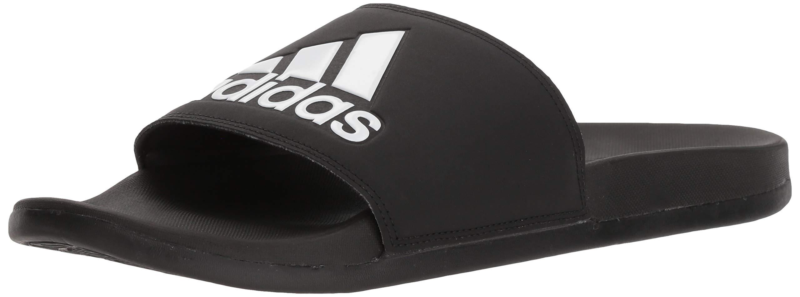 5c90b0e58 Galleon - Adidas Men s Adilette Comfort Slide Sandal Black White