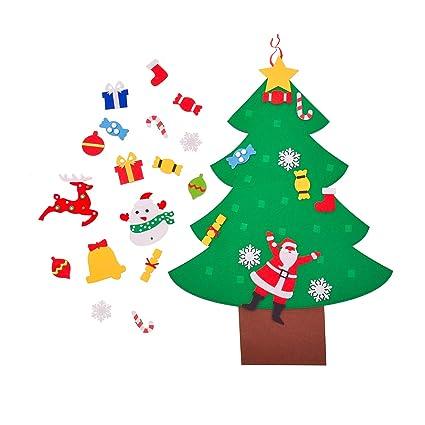 Morepack - Albero di Natale Fai da Te in Feltro con 28 ...