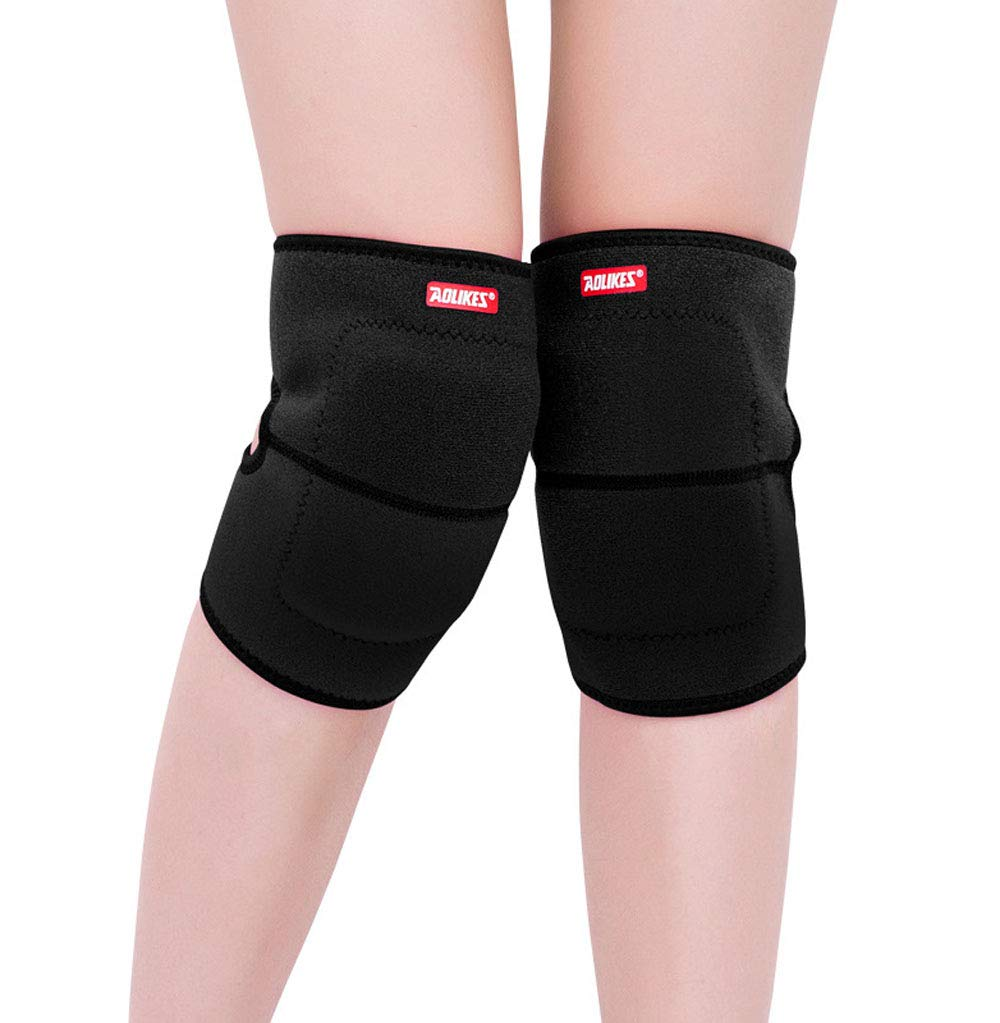 BabyPrice 2PCS Kids Adjustable Knee Pad, Anti-Slip Padded Sponge Knee Brace Breathable Flexible Elastic Knee Support for Football Volleyball Dance Skating Basketball Sports