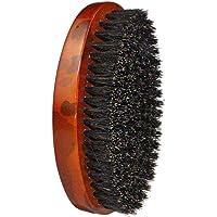 Solustre Wooden Beard Brush Hair Shaving Brush Beard Cleaning Brush Mustache Brush Beauty Grooming Tool (Brown)