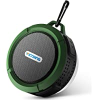 VicTsing Shower Speaker, Wireless Waterproof Speaker with 5W Driver, Suction Cup, Built-in Mic, Hands-Free Speakerphone - Army Green