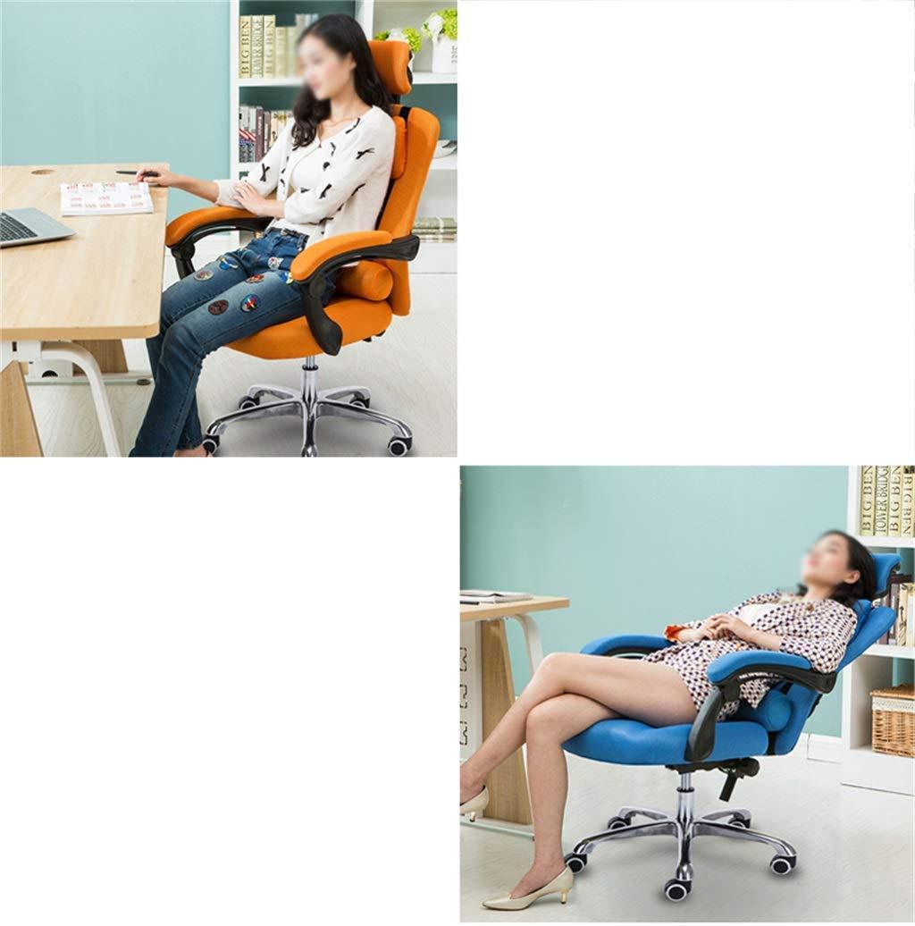 JIEER-C Ergonomisk stol skrivbordsstolar dator kontor svängbar hem uppgift nät hög rygg ergonomiskt justerbar reumbent mobil dubbel kudde aluminiumlegering fot apelsin