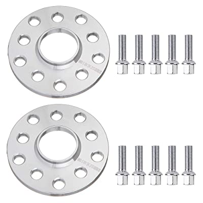 OCPTY 2x 10mm Thick 5x100 5x112 5 lugs 14x1.5 Studs Wheel spacers fit for 1995-2015 Audi S6: Automotive