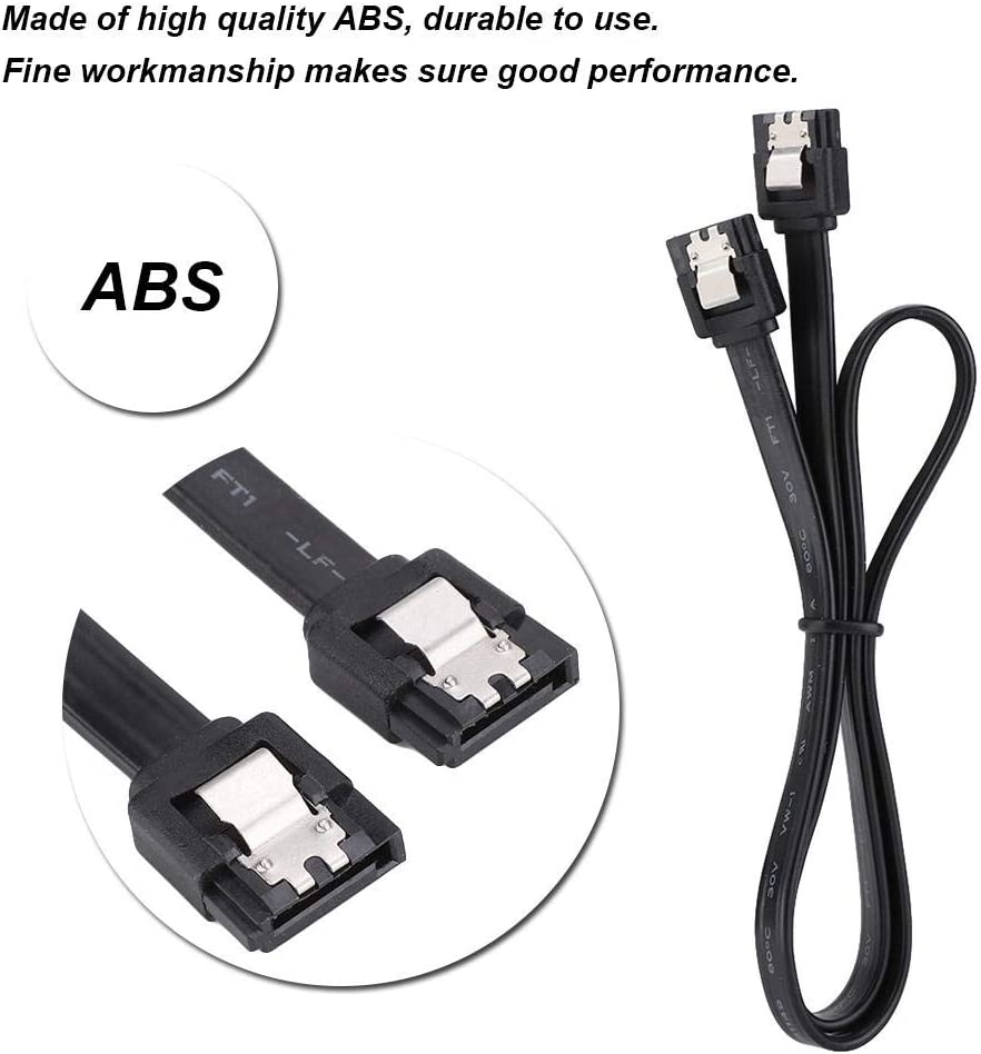 CD Writer Zopsc SATA 3.0 Cable SSD CD Driver 6Gbps SATA III Cable Data Extension Adapter Cable Connection Line for SATA HDD
