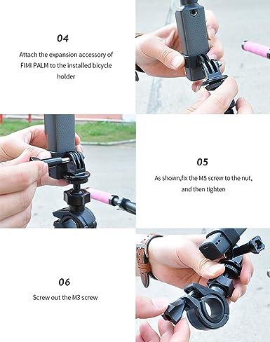 Fahrrad Kamerahalter Für Xiaomi Fimi Palm 360 Drehbar Kamera Halterung Fahrrad Halterung Max 30mm Lenker Kamerahalterung Motorrad Halterung Fahrrad Lenkerhalterung Ständer Uhren