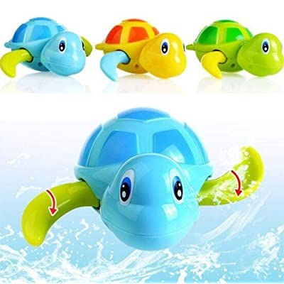 Halsey99 Bath Toys Floating Wind Up Swimming Turtle Animal Tub Pool Toy for Kids: Home & Kitchen