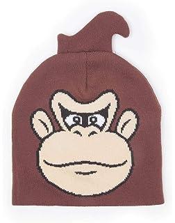 Meroncourt Nintendo Donkey Kong Face Cuffless Beanie, One Size, Brown,  Bonnet Mixte, 8134e23810b