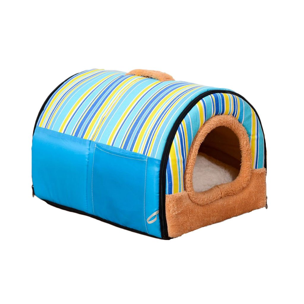 F S F S Pet Bed Short Plush Kennel Kennel Soft and Comfortable Breathable Waterproof Non-Slip Durable Multi-color Optional A1 Pet Bed (color   F, Size   S)