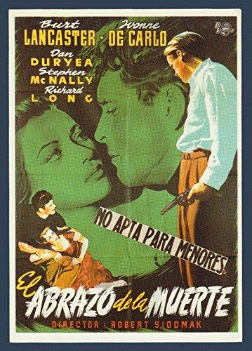 Criss Cross with Burt Lancaster & Yvonne De Carlo - Classic Cinema Vintage Original Postcard #0967 - ()