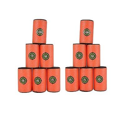 """Nerf Target,12Pcs Large Size(3.9"""" x 2.4"""") EVA Soft Kids Toy Gun Bullet Targets Dart Foam Toy Gun Shoot Dart for Nerf Gun N-Strike Elite Series Blasters Kids Toy: Toys & Games"""