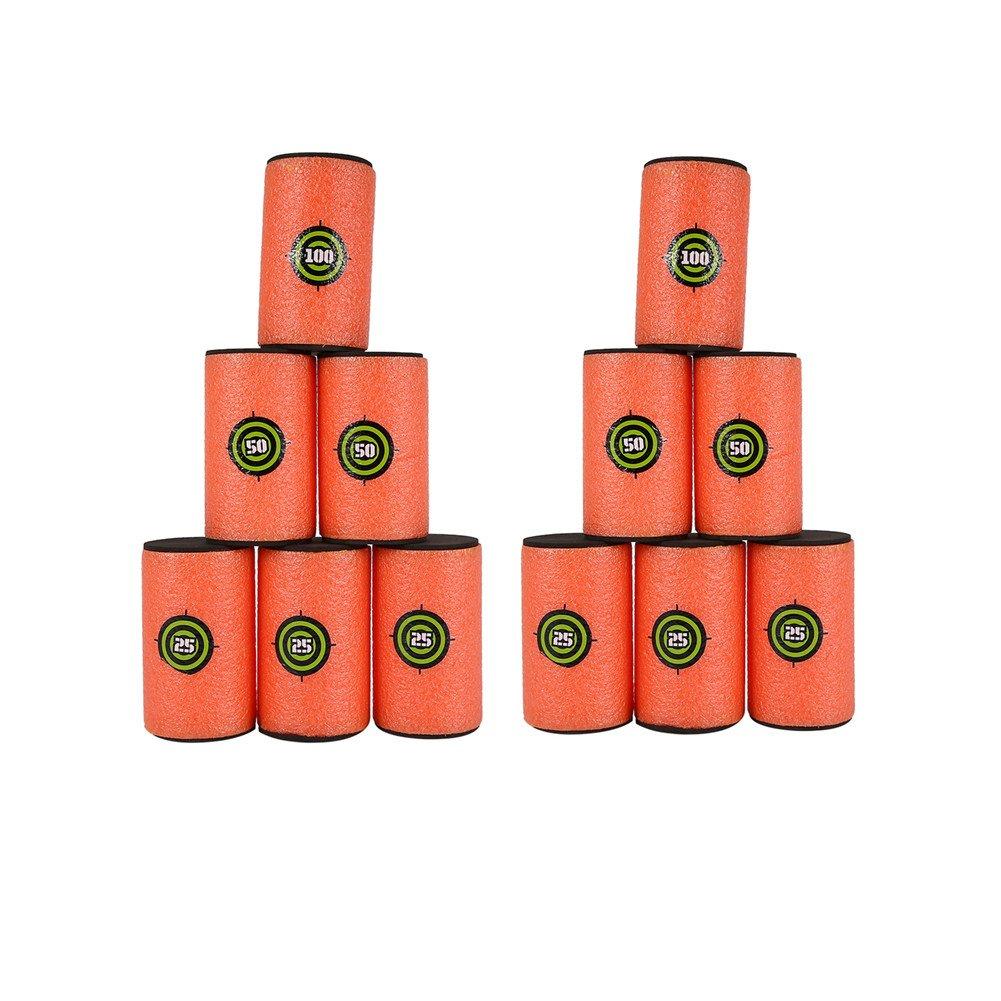 """12Pcs Large Size(3.9"""" x 2.4"""") EVA Soft Kids Toy Gun Bullet Targets Dart Foam Toy Gun Shoot Dart For Nerf Gun N-strike Elite Series Blasters Kids Toy"""