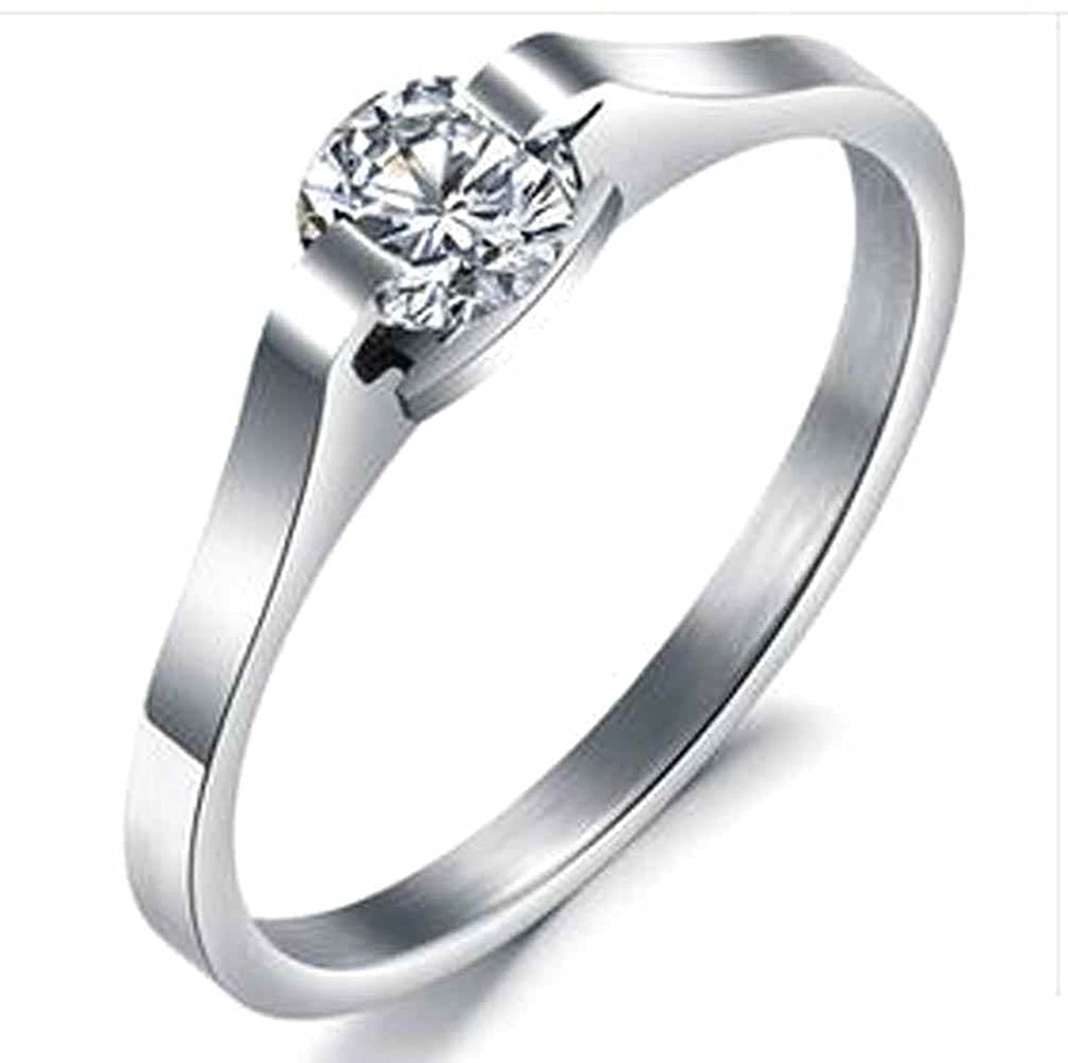 Aokarry Women's Classic Stainless Steel Wedding Bands Promise Engagement Rings for Women 1.5MM Size AOKAGJ65