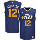 Amazon.com   John Stockton Utah Jazz NBA Adidas Men s White Replica ... d3ff31447