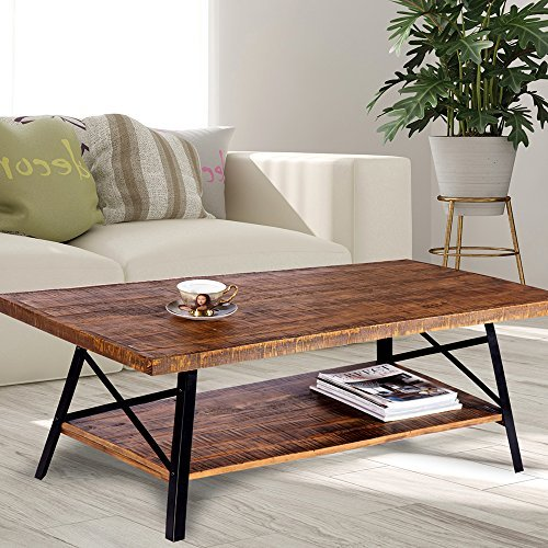 Olee Sleep 46'' Chandler Cocktail Wood & Metal Legs Coffee Table / End Table/ Side Table / D ...