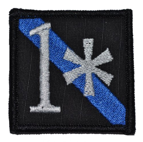 1 One Ass to Risk Thin Blue Line Sheepdog 2x2 Morale Patch - Black