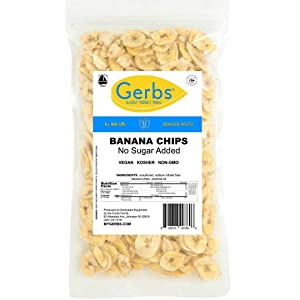 Gerbs Banana Chips Unsweetened, 4 LBS, Unsulfured & Preservative Free