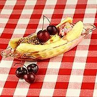 Plat pour crème, glace, coupe glacée, banane, lot de 4plats en forme de bateau pour crème, coupe glacée, banane pour présentation de dessert.
