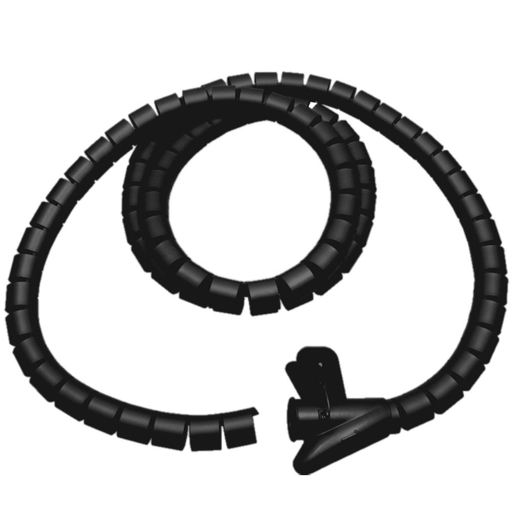 Maclean MC-525 B Kabelschlauch Kabelspirale Kabelkanal Schlauch 2 m 25 mm schwarz