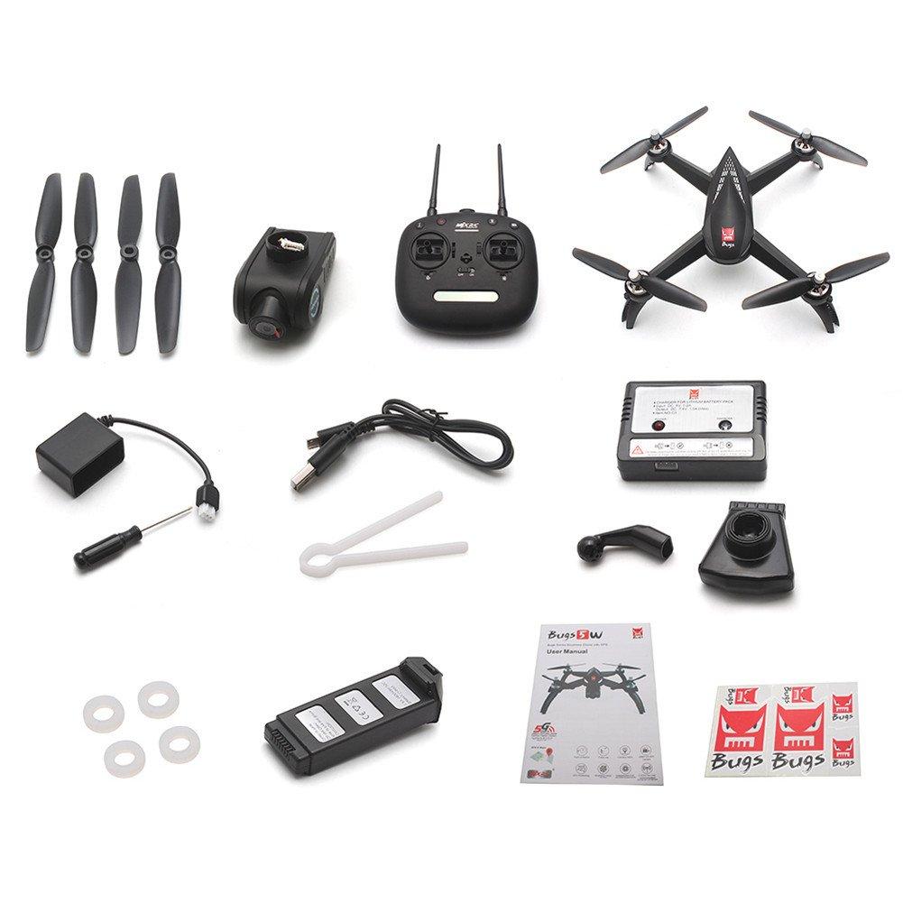 Alian Bugs 5W 1080P 5G WiFi FPV Cámara GPS Posición Altitud Hold RC Drone Quadcopter