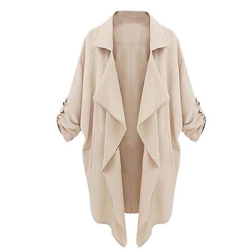 Tongshi Mujeres Celebrity rompevientos Cardigan Casual Tops chaqueta de la capa Outwear