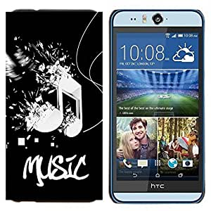 - Music Pattern - - Cubierta del caso de impacto con el patr??n Art Designs FOR HTC Desire EYE M910x Queen Pattern