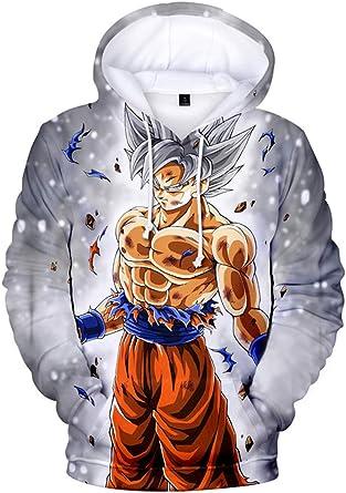 Women Men 3D Print Cartoon Dragon Ball Goku Kid Casual Sweatshirt Anime Hoodie