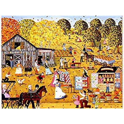 Cardinal October Party - 500 Piece Jigsaw Puzzle: Toys & Games