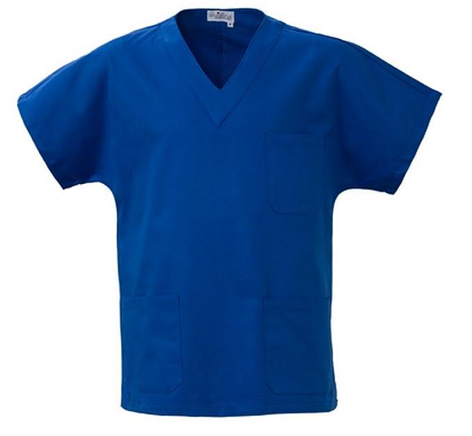Angiolina Camice Medico a V Uomo Donna per Ospedale Dentista Infermiere  Bluette MS1301  Amazon.it  Abbigliamento b09a44c12966