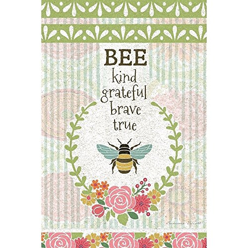 Lang - Mini Garden Flag - Bee Kind, Exclusive Artwork by Suz