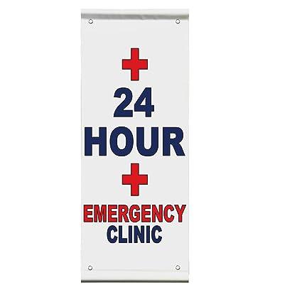 Amazon 24 Hour Emergency Clinic Blue Red Auto Car Shop