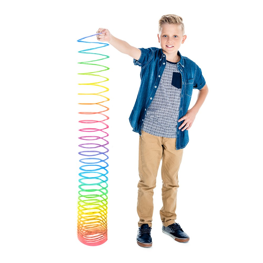 ArtCreativity Gigantic Coil Spring | Opens to 16 Feet | Jumbo Plastic Rainbow Coil Spring | Great Gift idea for Boys and Girls Ages 3+ by ArtCreativity (Image #4)
