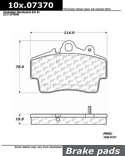 Disc Brake Pad Set Front Centric 104.07370