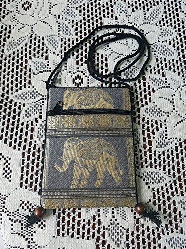Bag Pouch Tribal Passport Cellphone Grey Elephant Mini Holder Shoulder Single Hmong Crossbody Travel Cp9 BTP Hill Case Bag tFz7Zq
