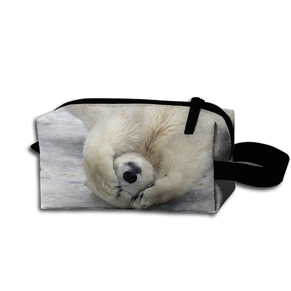 Makeup Cosmetic Bag Wildlife Animals Bear Medicine Bag Zip Travel Portable Storage Pouch For Mens Womens