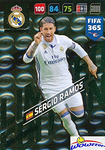 Sergio Ramos Real Madrid 2018 Panini Adrenalyn XL FIFA 365 EXCLUSIVE LIMITED EDITION Card! Awesome Special Great Looking Card Imported from Europe! Shipped in Ultra Pro Top Loader! WOWZZER!