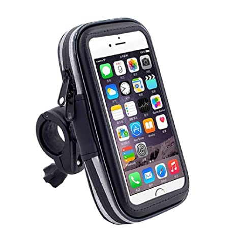 Kanggest Bike Phone Holder Waterproof Adjustable 360 Degrees Bicycle Mount Rotatable Outdoor Riding and Cycling Universal Cradle Holder Case Bag 3 Size for iPhone Samsung Huawei HTC