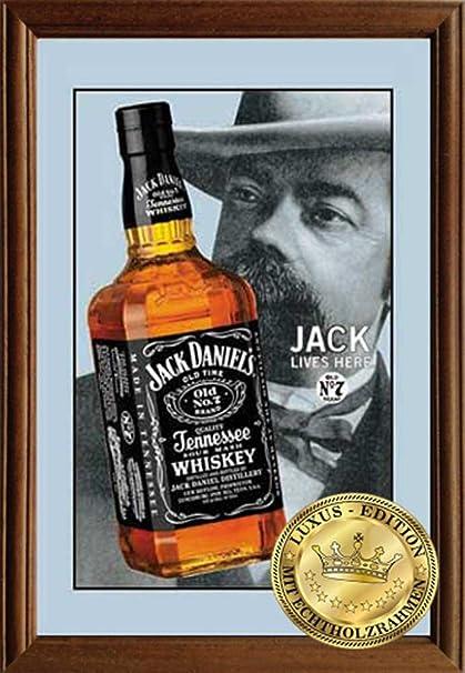 Empire Merchandising 610782 Jack Daniels Jack 2, espejo con marco de madera, 22 x